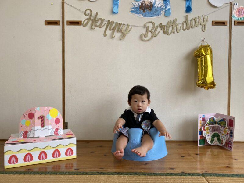 【わかたけ】1歳のお誕生日🎂の写真